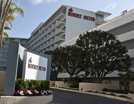Hotel Beverly Hilton, kde zemřela Whitney Houston.
