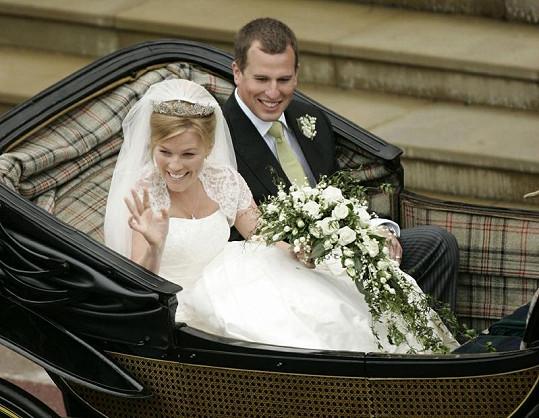 Novomanželé Peter a Autumn Phillipsovi v květnu 2008.
