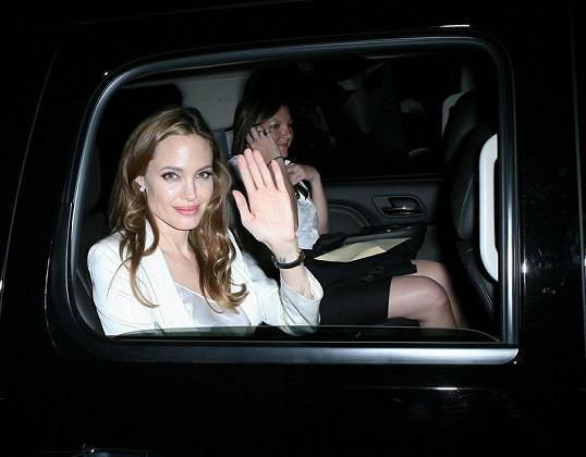 Herečka Angelina Jolie