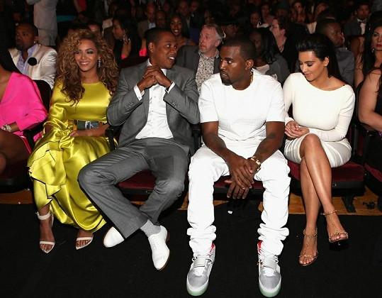Beyoncé, Jay-Z, Kanye West a Kim Kardashian.
