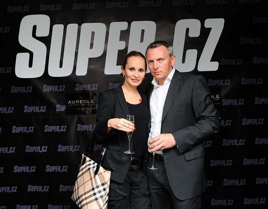 Monika Absolonová s čerstvě rozvedeným přítelem Vratislavem Jandou.
