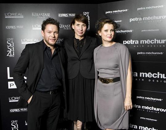 Petra s Matějem Ruppertem a Jitkou Schneiderovou.