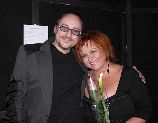 S Marianem Vojtkem se potkává Hanka při svých vystoupeních prý skoro denně. Adventní koncert Magdy Malé nebyl výjimkou.