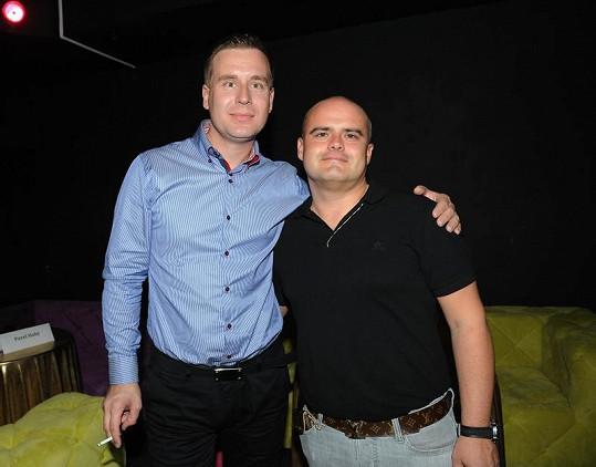 Petr Nárožný ml. s přítelem Michalem Mrkošem