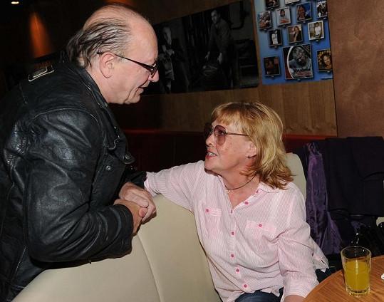 Petr Janda a Jana Šulcová na křtu CD Dalibora Jandy