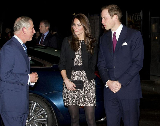 William, Kate a princ Charles.