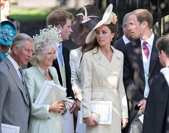 Princ Charles, Camilla a Kate Middleton.