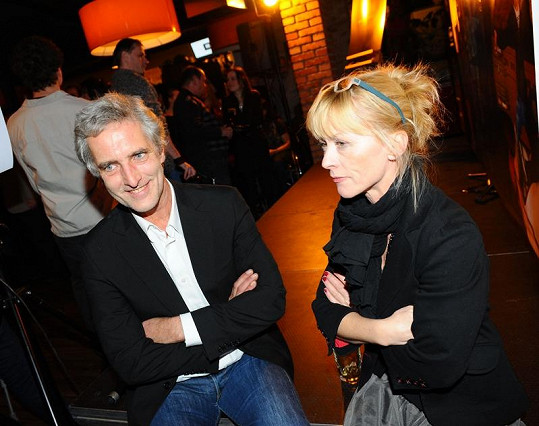 Tomáš Hanák a Dana Batulková na křtu kalendáře Proměny.