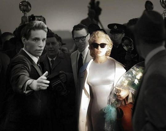Michelle Williams jako Marilyn ve snímku My week with Marilyn.