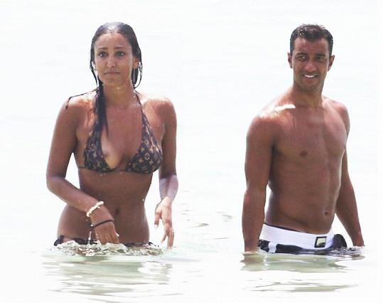 Fabio Quagliarella s přítelkyní.