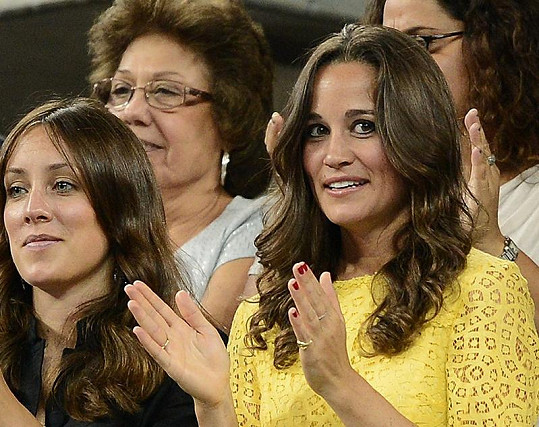 Pippa Middleton v hledišti na US Open.