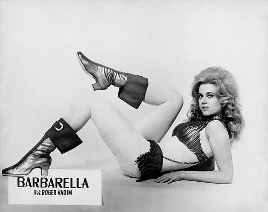 Jane Fonda jako slavná Barbarella.