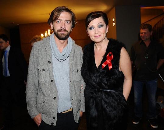 Bára Basiková s manželem Petrem Polákem.