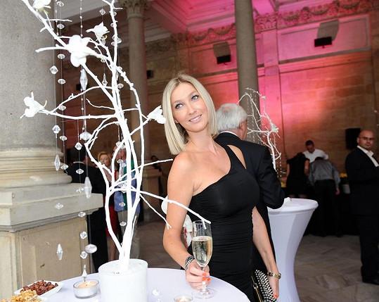 Dominika Mesarošová na párty finančníka Karla Komárka