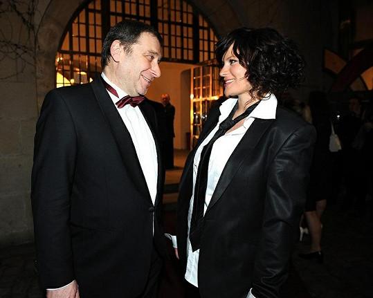 Jitka s Tomášem Töpferem, který neuspěl na cenách Thálie.