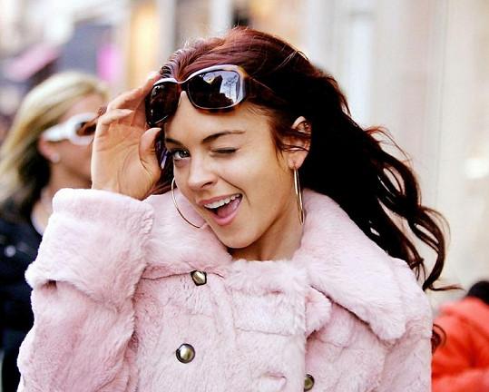 Lindsay Lohan v roce 2006 na snímku k filmu Jen trošku štěstí.