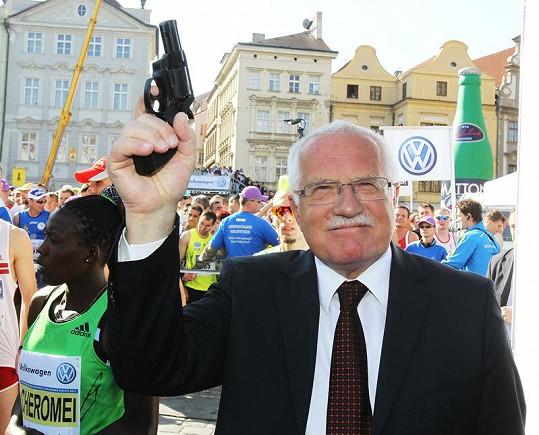 Maratón dstartoval prezident Václav Klaus.