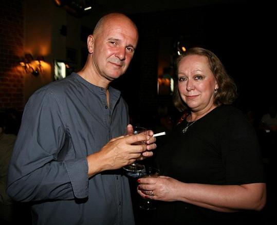 Ondřej Soukup s manželkou Gábinou Osvaldovou jsou stále velcí přátelé.