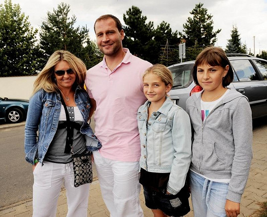 Jiří Šlégr s rodinou.