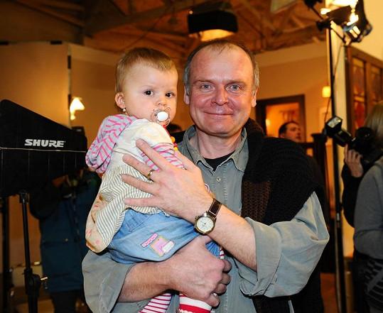 Igor Bareš s dcerou Toničkou.