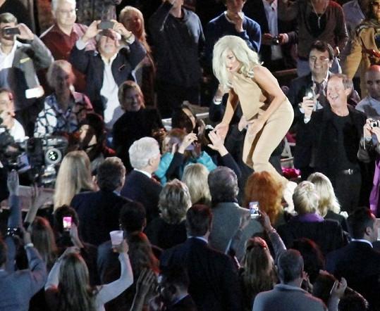 Lady Gaga a její fanoušek Bill Clinton.