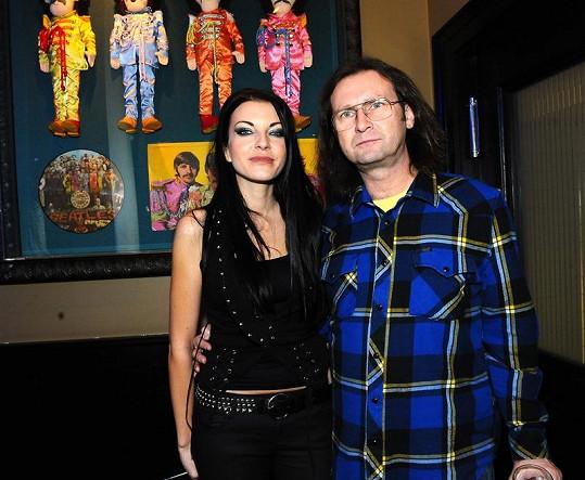 Zuzana Miková se svým producentem Jaroslavem Topercerem.