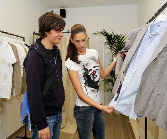 Aneta Vignerová s Davidem Krausem na lovu nových módních kousků
