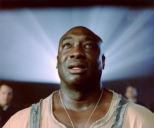 Michael Clarke Duncan jako hodný obr John v Zelené míli.
