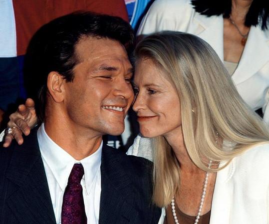 Patrick Swayze s manželkou Lisou v roce 1997.