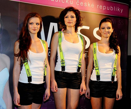 Vítězky soutěže Miss Hasička 2011.