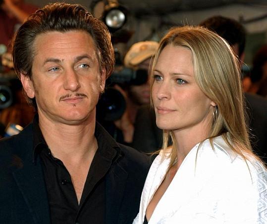 Robin Wright se Seanem Pennem ještě jako manželé.