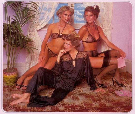 Modelky z katalogu Victoria's Secret z roku 1979.