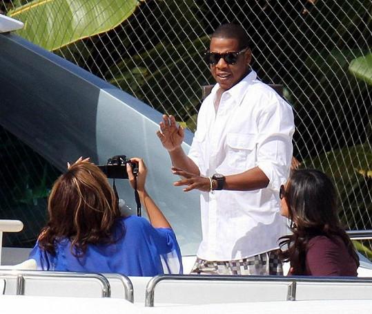 Zpěvačka si natáčela svého manžela Jay-Z.