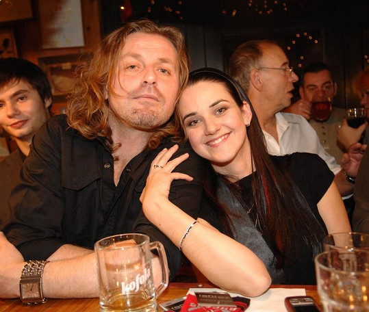 Libuška s druhým exmanželem Pepou Vojtkem.