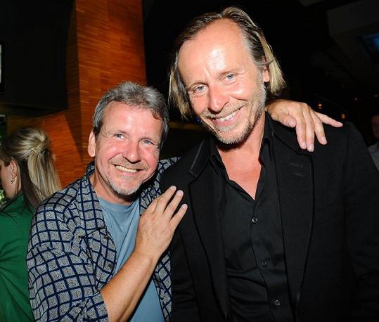 Karel Roden s režisérem F.A. Brabcem.