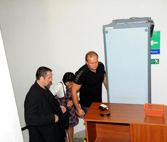 Marek Vít a Klára Samková dorazili v doprovodu bodyguarda.