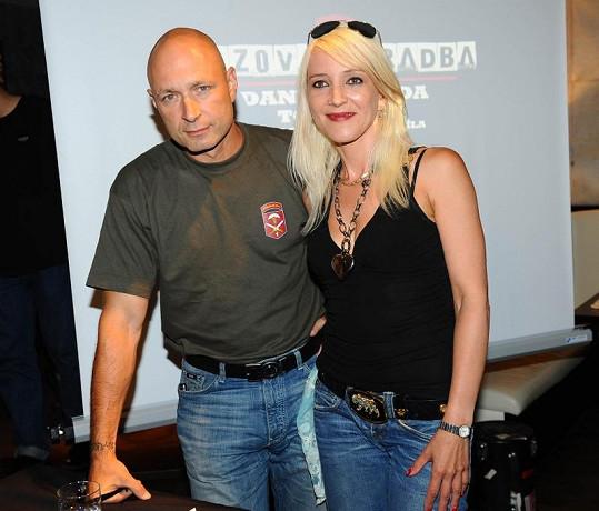 Daniel a Mirjam Landovi na tiskovce k novému turné.