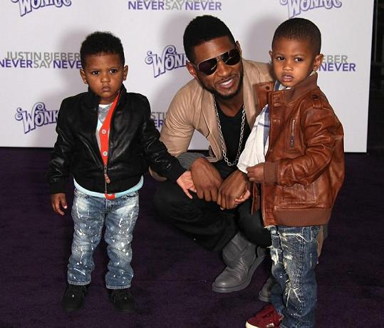 Usher s dětmi.