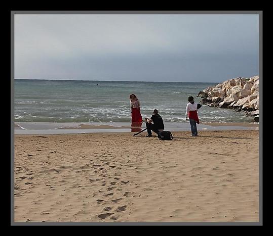 Na pláži.