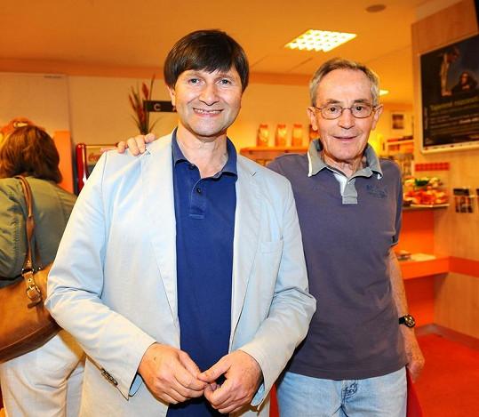 Jan Tříska se svým principálem Janem Hrušínským