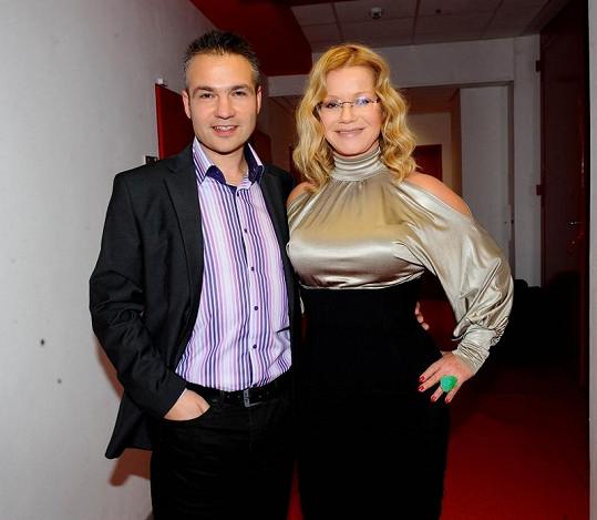 Jitka Asterová a ředitel programu TV Barrandov Janis Sidovský.
