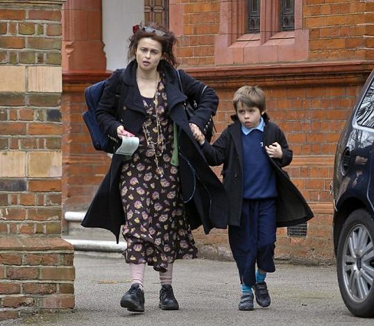 Helena Bonham Carter se synem.