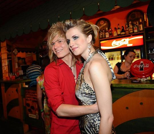 Gabriela Gunčíková a Miro Šmajda na párty SuperStar.