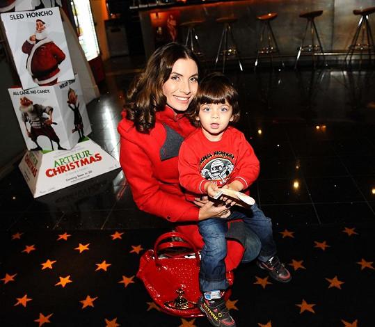 Eva Decastelo se synem Michálkem, nejkrásnějším synem českého šoubyznysu.