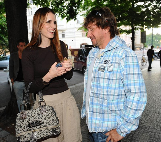 Lucie Váchová s manželem.