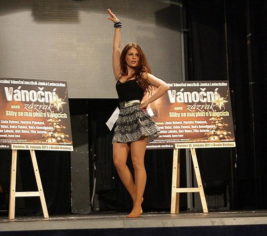 Alžběta Bartošová tančila na pódiu divadla Broadway.