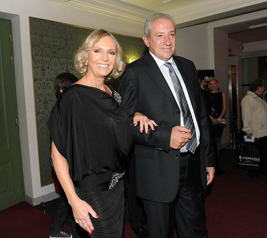 Helena Vondráčková s manželem Martinem Michalem.
