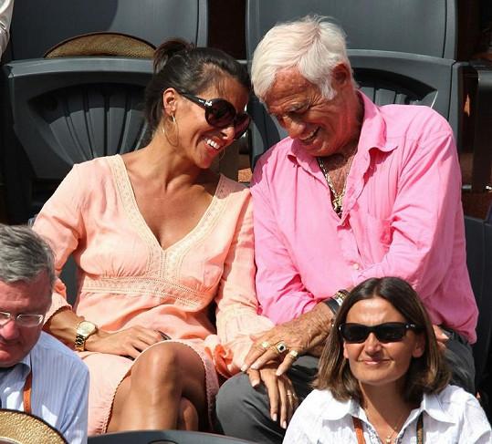 Dvojice se evidentně na tenise dobře bavila.
