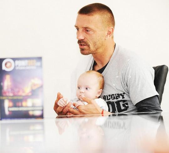 Tomáš Řepka se synem Markusem.