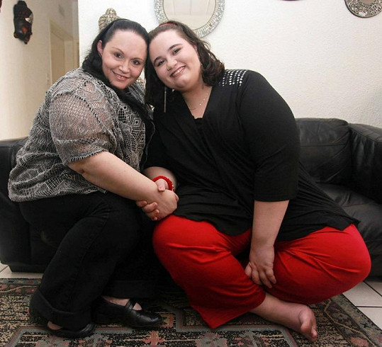 Raven El Messaoudi s maminkou Diane.